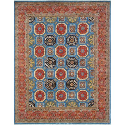 Woodmoor Zahba Hand-Knotted Wool Blue Area Rug