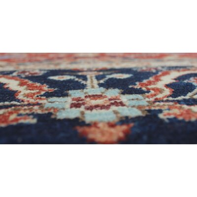 Woodmoor Karzai Hand-Knotted Wool Rust Area Rug