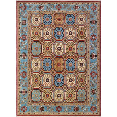 Woodmoor Nagina Hand-Knotted Wool Rust Area Rug