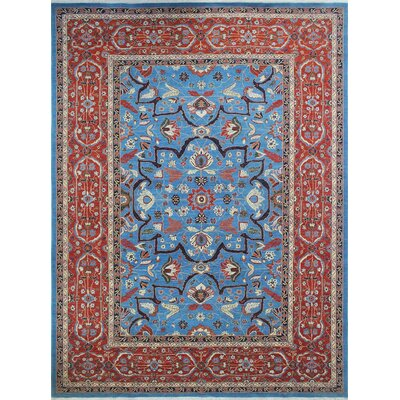 Woodmoor Beltoon Hand-Knotted Wool Blue Area Rug