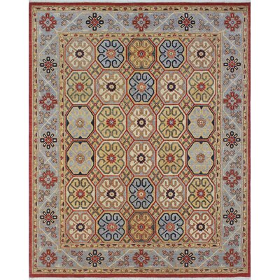 Woodmoor Qader Hand-Knotted Wool Rust Area Rug