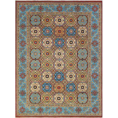 Woodmoor Bakhtawora Hand-Knotted Wool Rust Area Rug