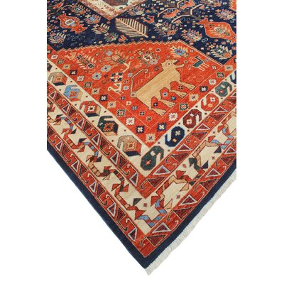 Woodmoor Tamim Hand-Knotted Wool Rust Area Rug