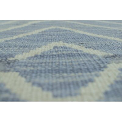 One-of-a-Kind Ackworth Aaron Hand-Woven Wool Blue Area Rug