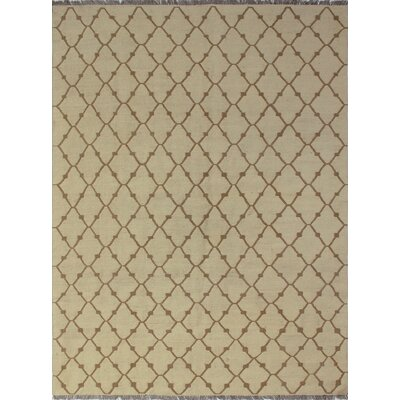 One-of-a-Kind Troy Zheela Hand-Woven Wool Beige Area Rug