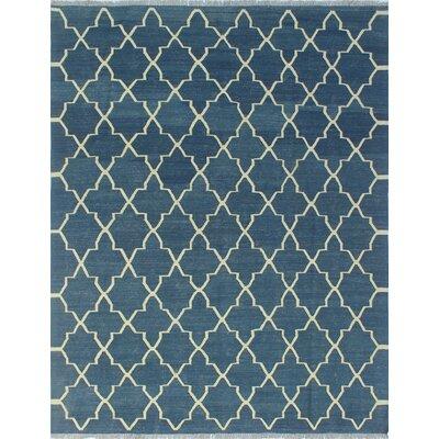 One-of-a-Kind Troy Khaleda Hand-Woven Wool Blue Area Rug