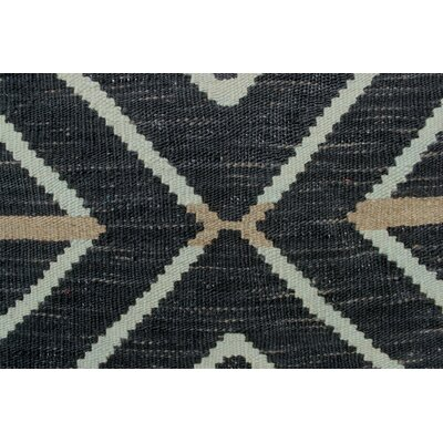 One-of-a-Kind Ackworth Masood Hand-Woven Wool Black Area Rug