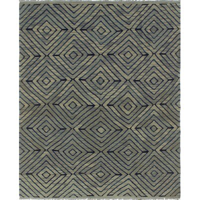 One-of-a-Kind Ackworth Nafisa Hand-Woven Wool Grey Area Rug