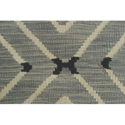 One-of-a-Kind Ackworth Helay Hand-Woven Wool Grey Area Rug