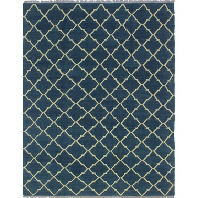 Ackworth Almar Hand-Woven Wool Blue Area Rug