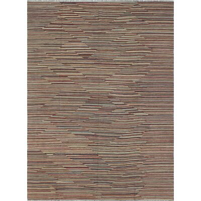 Ackworth Wahab Hand-Woven Wool Rust Area Rug