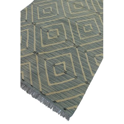Ackworth Nadera Hand-Woven Wool Grey/Blue Area Rug