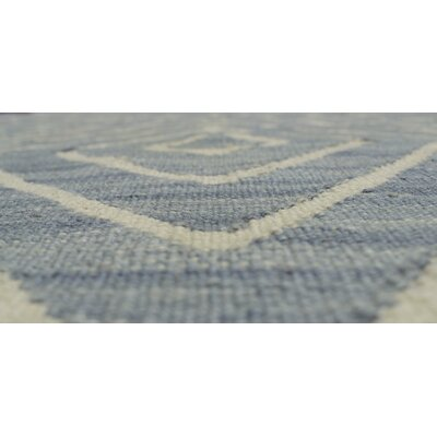 Ackworth Gulyar Hand-Woven Wool Blue Area Rug