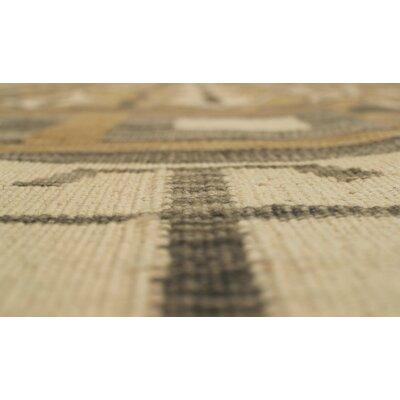 Troy Muqadas Hand-Woven Wool Ivory Area Rug
