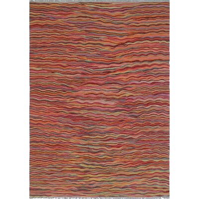 One-of-a-Kind Troy Farima Hand-Woven Wool Magenta Area Rug