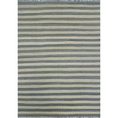 One-of-a-Kind Galen Naseema Hand-Woven Wool Grey Area Rug