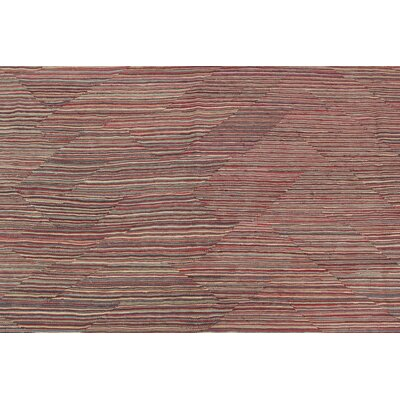 One-of-a-Kind Ackworth Lajward Hand-Woven Wool Red Area Rug