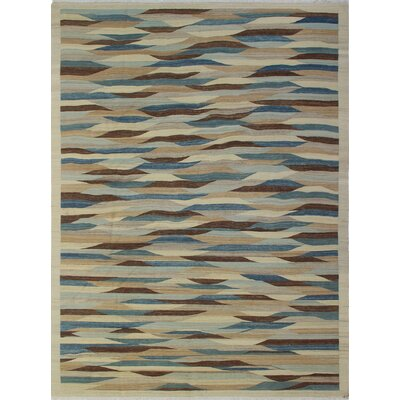 One-of-a-Kind Margaret Roya Hand-Woven Wool Beige Area Rug