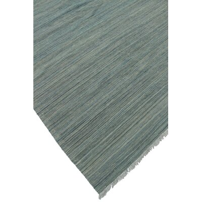 Ackworth Usma Hand-Woven Wool Blue Area Rug
