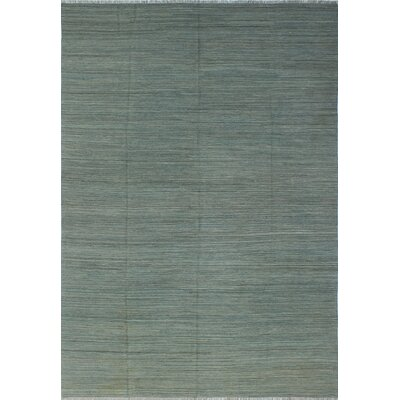 One-of-a-Kind Winterton Asra Hand-Woven Wool Blue Area Rug