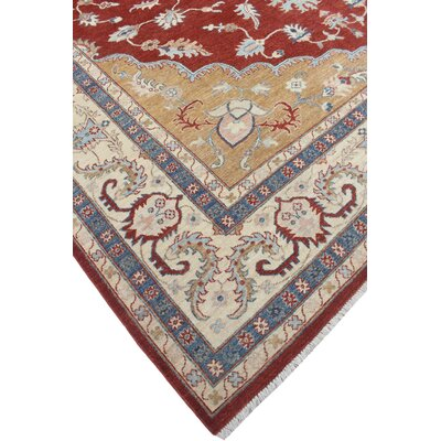 Woodmoor Yasen Hand-Knotted Wool Red/Rust Area Rug