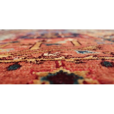 One-of-a-Kind Woodmoor Nasrat Hand-Knotted Wool Rust/Red Area Rug