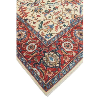 Woodmoor Roheen Hand-Knotted Wool Ivory Area Rug