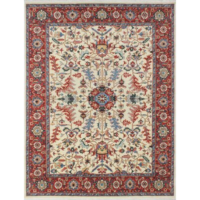 One-of-a-Kind Woodmoor Sabroo Hand-Knotted Wool Ivory Area Rug