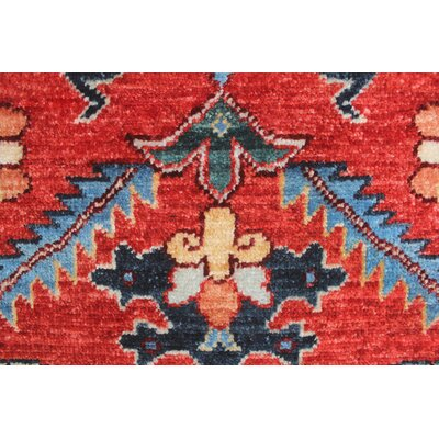Woodmoor Muhammad Hand-Knotted Wool Rust/Red Area Rug