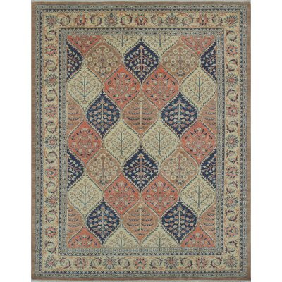 One-of-a-Kind Longoria Zahar Hand-Knotted Wool Brown Area Rug