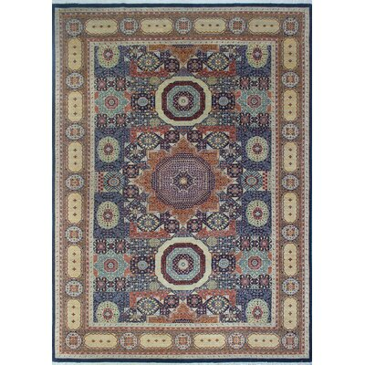 One-of-a-Kind Longoria Obiada Hand-Knotted Wool Blue Area Rug