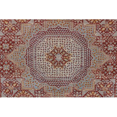 One-of-a-Kind Longoria Walia Hand-Knotted Wool Rust Area Rug