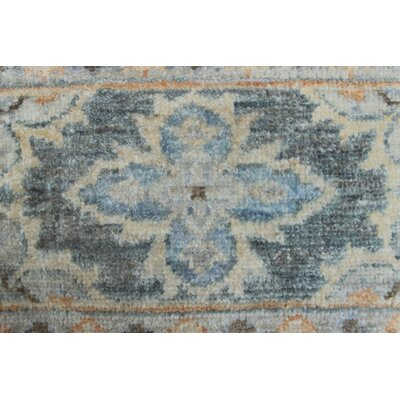 Turner Aryana Hand-Knotted Wool Blue Area Rug