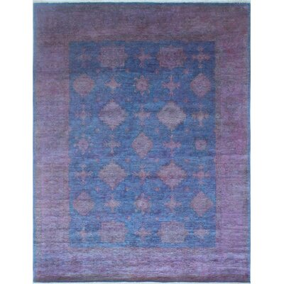 One-of-a-Kind Chaney Morwarid Hand-Knotted Wool Purple Area Rug