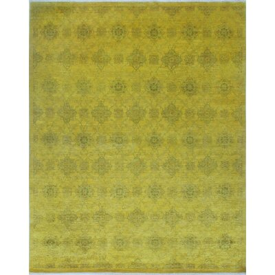 One-of-a-Kind Chaney Gulbahar Hand-Knotted Wool Gold Area Rug