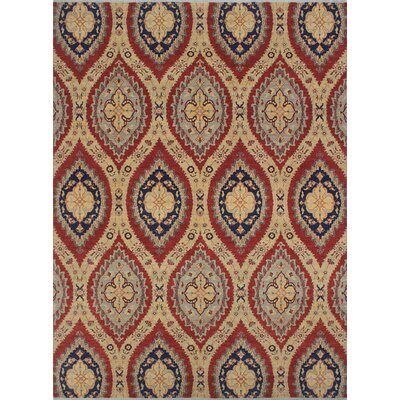 One-of-a-Kind Longoria Yasaman Hand-Knotted Wool Rust Area Rug