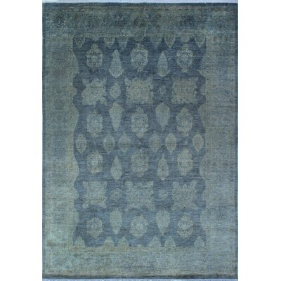 Chaney Ashiq Hand-Knotted Wool Grey Area Rug