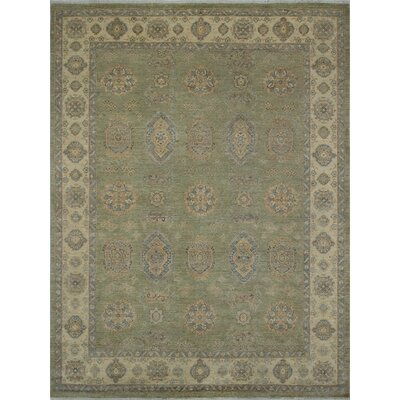 One-of-a-Kind Turner Ramazan Hand-Knotted Wool Light Green Area Rug