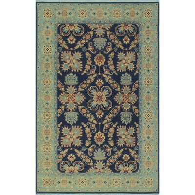 Turner Rehoie Hand-Knotted Wool Blue Area Rug