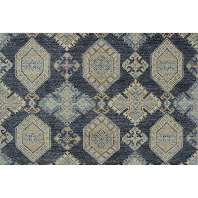 One-of-a-Kind Longoria Taleeb Hand-Knotted Wool Grey Area Rug