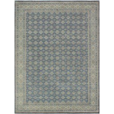 Turner Najeeb Hand-Knotted Wool Gray Area Rug