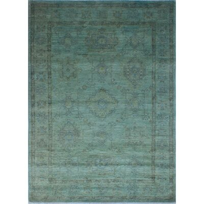 Chaney Guljaan Hand-Knotted Wool Green Area Rug