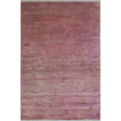 One-of-a-Kind Chaney Ghous Hand-Knotted Wool Purple Area Rug