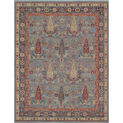 One-of-a-Kind Woodmoor Wajma Hand-Knotted Wool Grey Area Rug