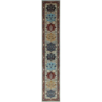 One-of-a-Kind Woodmoor Aneif Hand-Knotted Wool Ivory Area Rug