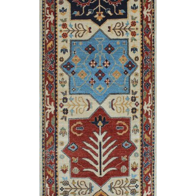 One-of-a-Kind Woodmoor Wazhmah Hand-Knotted Wool Ivory Area Rug