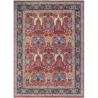 Woodmoor Ramez Hand-Knotted Wool Rust Area Rug