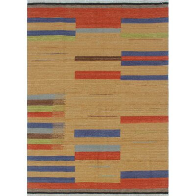 Shantee Bakhtawar Hand-Woven Wool Gold Area Rug