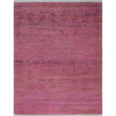 Chaney Zarghona Hand-Knotted Wool Purple Area Rug