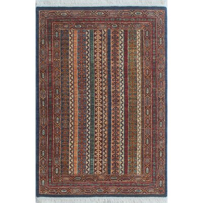 Trevor Homa Hand-Knotted Wool Blue Area Rug